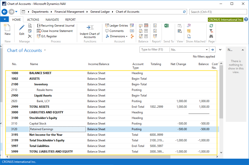 income statement closure in microsoft dynamics nav xpand company