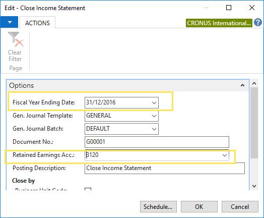 Income Statement Closure in Microsoft Dynamics NAV – Balance Sheet of Microsoft